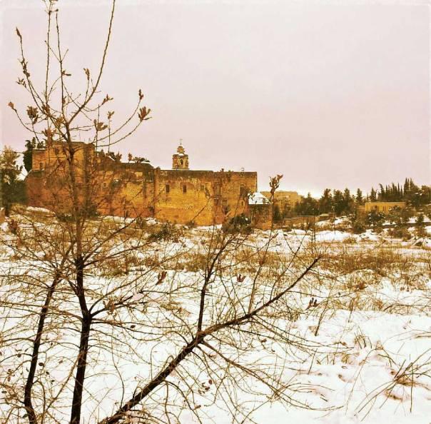 הבית כולו נפתח לכיוון המצלבה. מנזר המצלבה, 2012 צילום: רחלי ריף