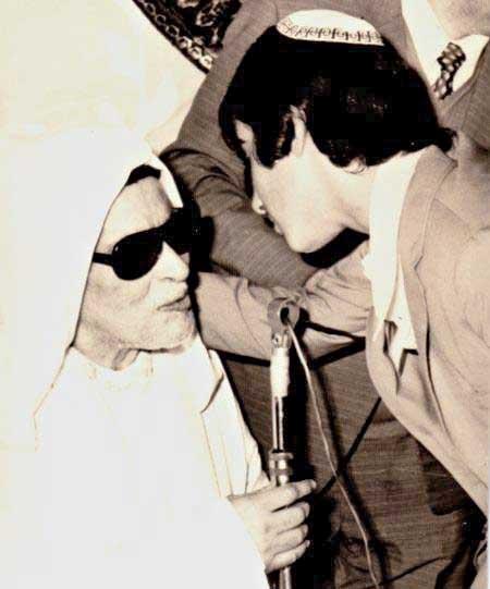 מאיר בוזגלו ואביו, ר' דוד בוזגלו, 1972