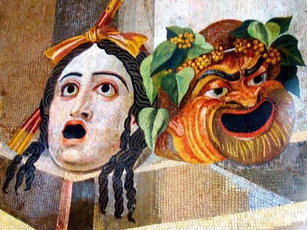 """מהי אותה תרבות יוון שאנו נאבקים נגדה? מסיכות תיאטרליות, המאה ה־2 לפנה""""ס"""
