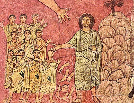 חזון יחזקאל, מתוך ציורי בית הכנסת בדורא אירופוס