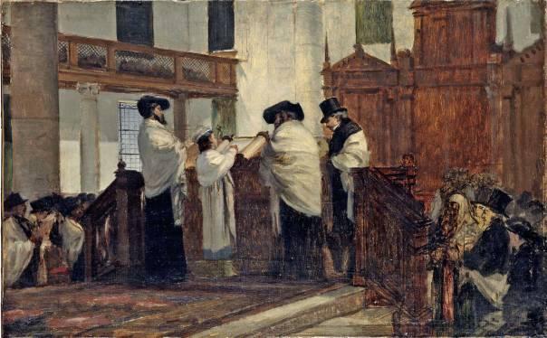 ז'אק אמיל אדואר ברנדון, 'עלייה לתורה של חתן בר מצווה'