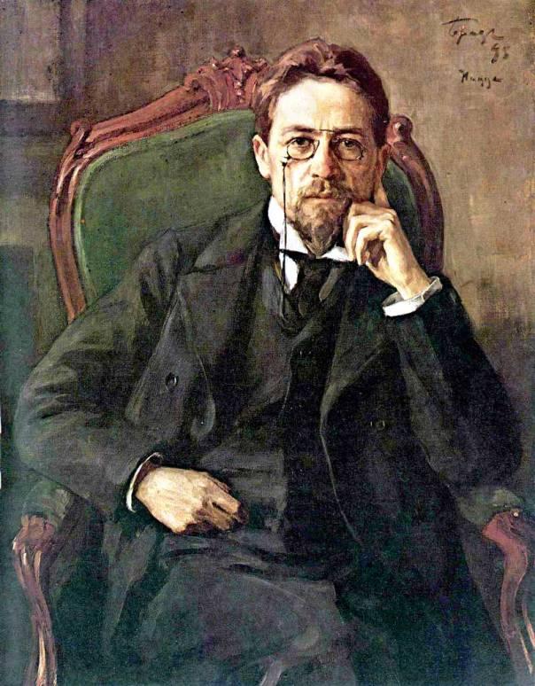גם המחזה 'בת השחף' נקטל עם הופעתו. דיוקן אנטון צ'כוב, אוסיפ בראז, 1898