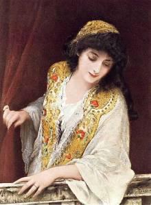 המוזיקה הנוצרית צורמת. ג'סיקה מ'הסוחר בונציה'. לוק פילדס, 1888