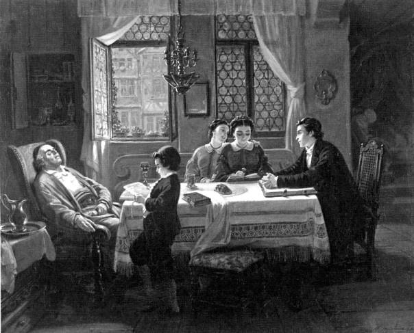 מוריץ דניאל אופנהיים, 'שבת אחר הצהריים', 1866