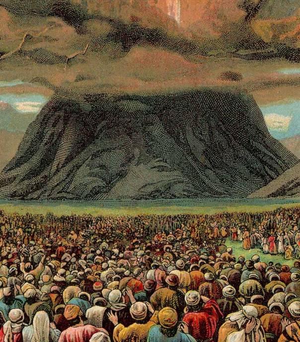 כדי לעבור מהסתר פנים למצב של גילוי יש צורך בהכנה הדרגתית. 'מעמד הר סיני', 1907