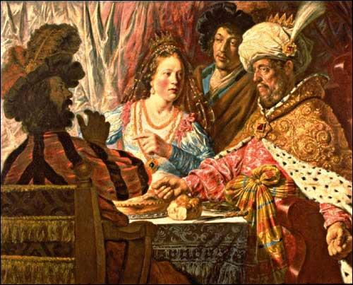 אסתר ואחשוורוש, ג'ון ליבנס, 1625