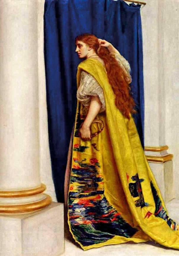 ממלכה פרסית היא חוזרת להיות נערה יהודייה. אסתר המלכה, ג'ון אוורט מיליי, 1865