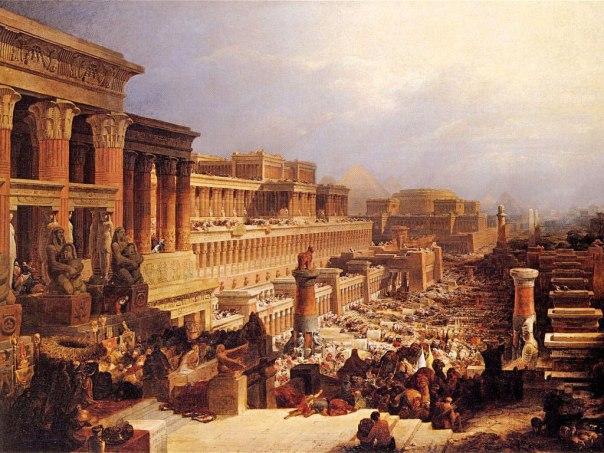יסודות מעצבי זהות ישראלית. בני ישראל יוצאים ממצרים, דיוויד רוברטס, 1828