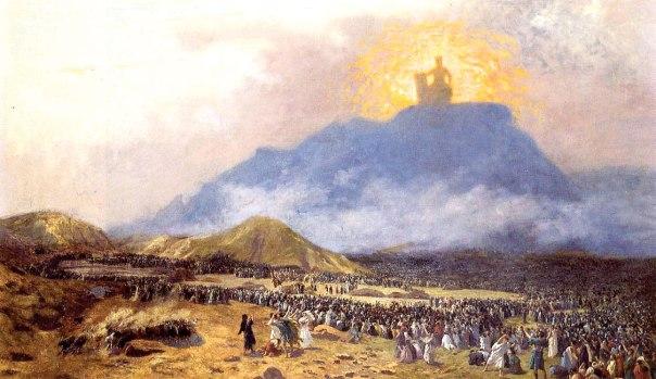 רק הראויים הגיעו לדרגת נבואה. משה מקבל את התורה, ז'אן-לאון ז'רום, 1895.