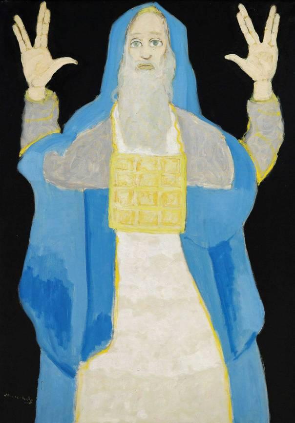 מאנה כץ, אהרן הכהן, שמן על בד. אוסף מוזיאון מאנה־כץ, חיפה