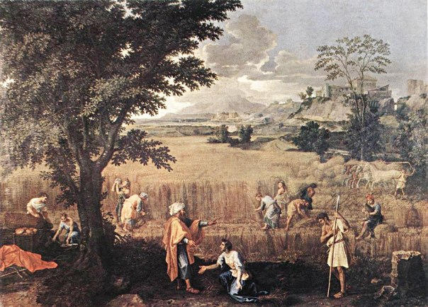 """""""קיץ (רות ובועז)"""", ניקולא פוסן, 1660־1664"""
