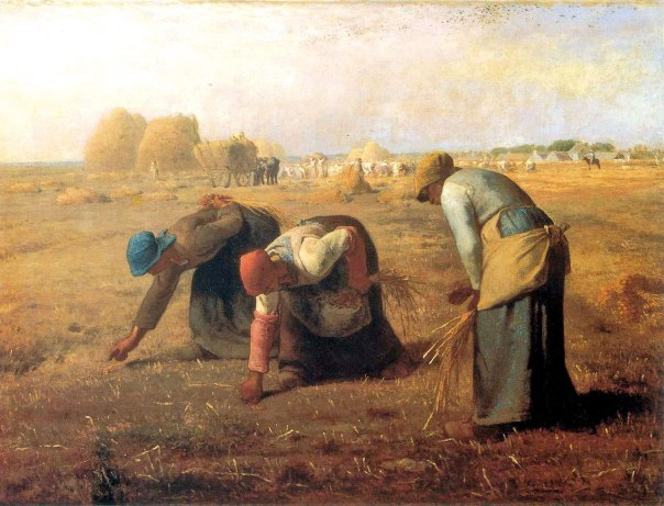 """""""המלקטות"""", ז'אן פרנסואה מייה, 1857, מוזיאון ד'אורסיי פריז"""