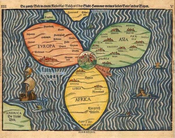 מרכזיות רוחנית־גיאוגרפית. ירושלים כמרכז העולם, היינריך בונטינג, 1594