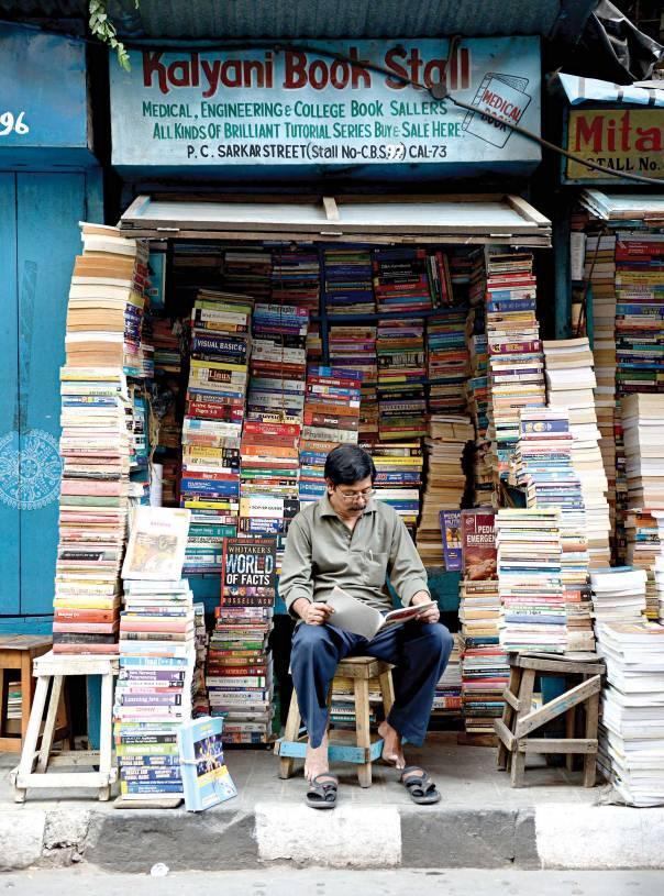 חנות ספרים, הודו צילום: getty images