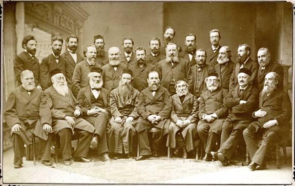 זרעי הציונות הדתית. נציגי חובבי ציון וביניהם הרב מוהליבר, ועידת קטוביץ, 1884