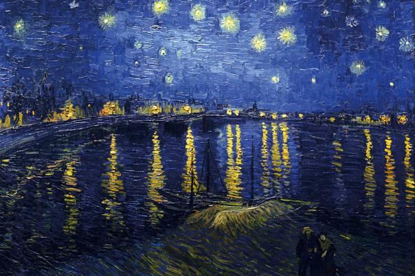 התבוננות מעוררת חשבון נפש. ליל כוכבים, וינסנט ואך־גוך, 1889