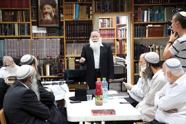 כנס הרבנים בבית הרב דרוקמן צילום: גידי שרון