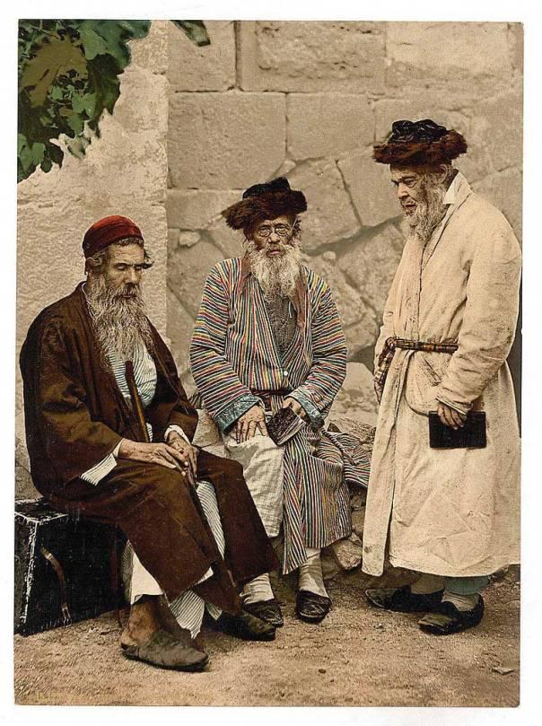 לא לבש ארוך כמקובל בין אנשי ירושלים ונחשד בהיותו משכיל. אנשי היישוב הישן, 1890  צילום: Detroit Photographic Companyֿֿ