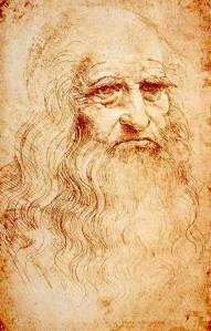 העולם הישן פינה את מקומו לעולם חדש. לאונרדו דה וינצ'י, דיוקן עצמי, 1513
