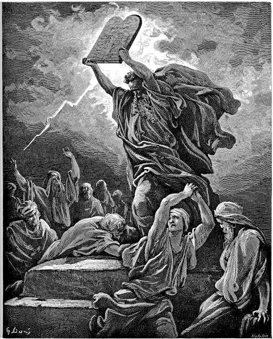 גוסטב דורה, משה משבר את לוחות הברית, 1850