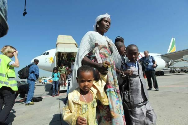 העלייה אינה טרגדיה. עולים מאתיופיה      צילום: משה שי