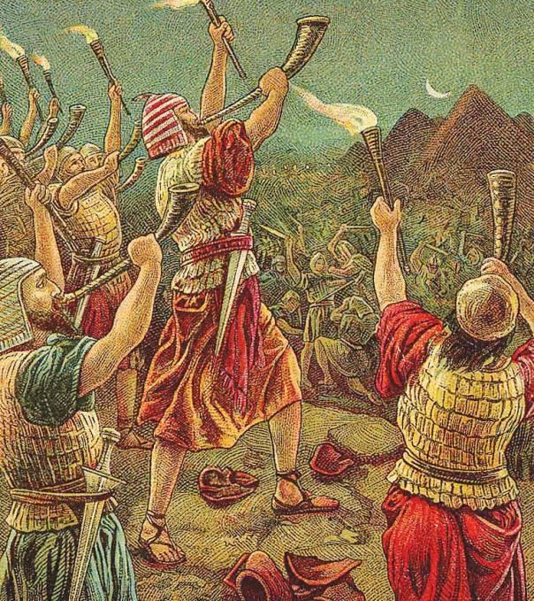 דמיון למלחמתו של אברהם נגד ארבעת המלכים. גדעון ו־300 הלוחמים, 1907