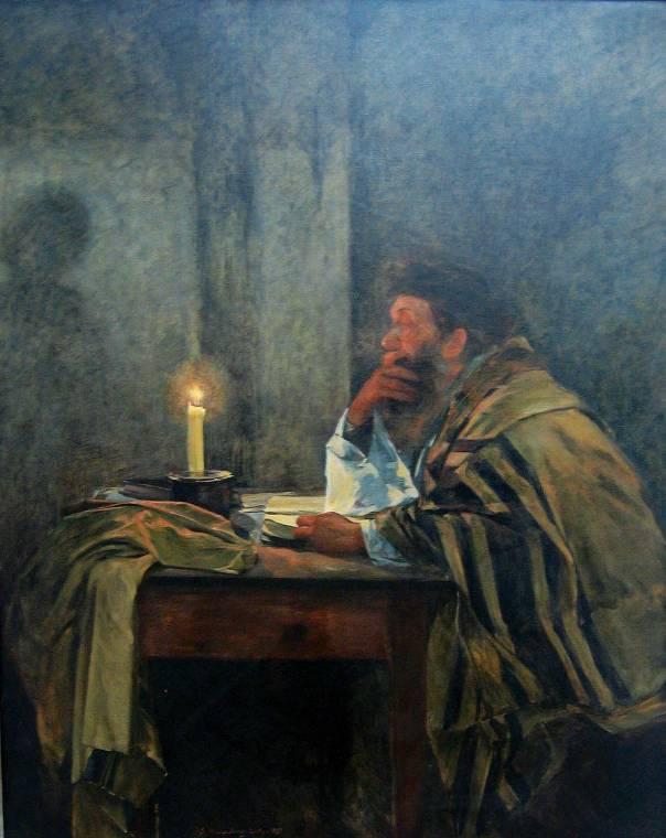 """כיצד תוסיף התפילה להיות בעלת חיות בסדר היום העמוס של האדם המודרני? שמואל הירשנברג, """"המתפלל האחרון"""", 1897"""