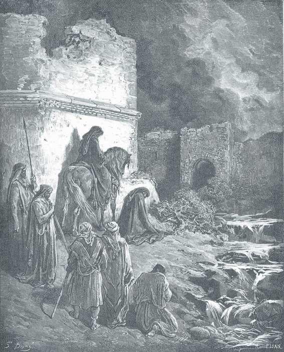 נחמיה מתבונן בהריסות חומות ירושלים, גוסטב דורה, 1866