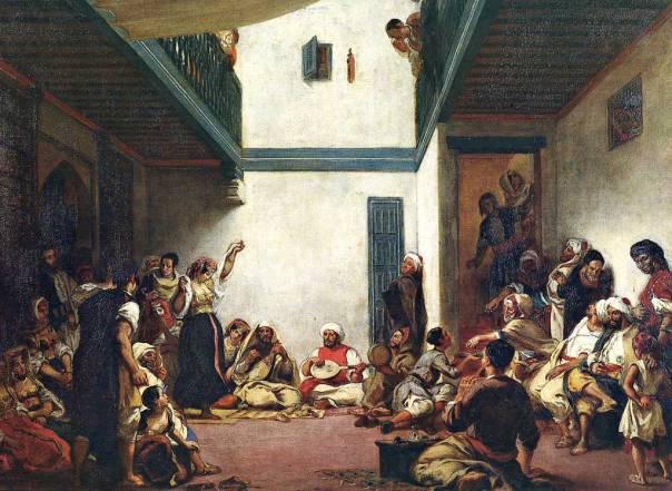 """להפוגה בין הרדיפות קראו """"תור הזהב"""". אז'ן דלקרואה, חתונה יהודית במרוקו, 1839"""