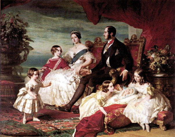 לאחר היציבות מגיעה מלחמת עולם. ויקטוריה ואלברט עם ילדיהם, פרנץ קסוור ווינטרהאלטר, 1846
