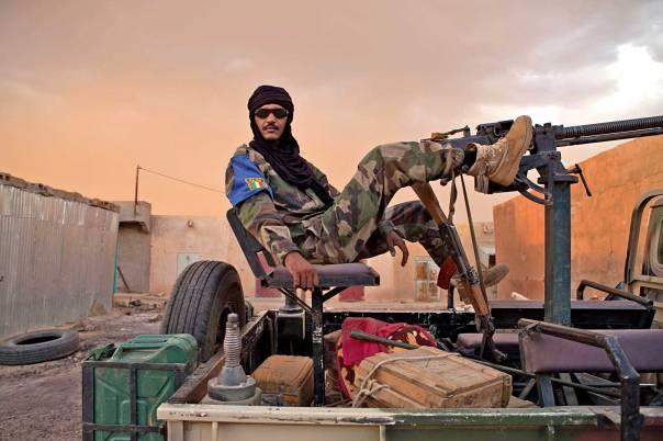בסיס לביצוע פיגועים בארצות השכנות. חייל במאלי, 2013 צילום: אי.פי.אי