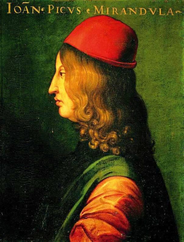 תיצור את עצמך בצורה שבה תבחר. ג׳ובאני פִּיקוֹ דֶלָה־מירנדולה, 1400