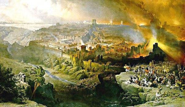 שורשיו של החורבן במלחמה פנימית. חורבן ירושלים, דיוויד רוברטס, 1850