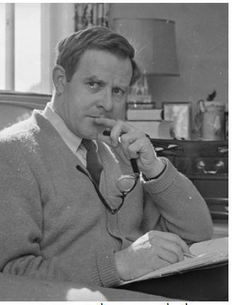 בדיון העולה על המציאות. ג'ון לה קארה, 1965  צילום: גטי אימג'ס