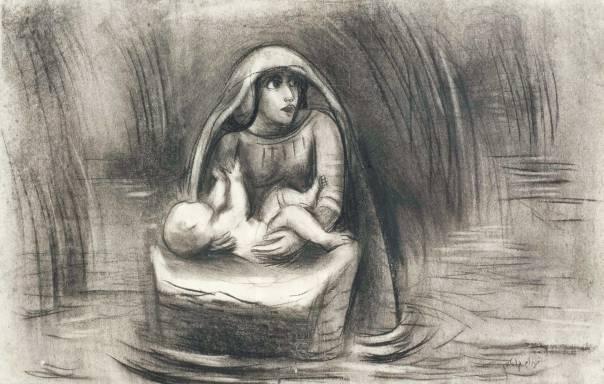נחום גוטמן, מרים ומשה בתיבה, 1933