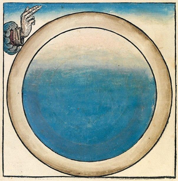 """תמהיל של שמים וארץ. היום הראשון לבריאה, תנ""""ך נירנברג, 1493"""