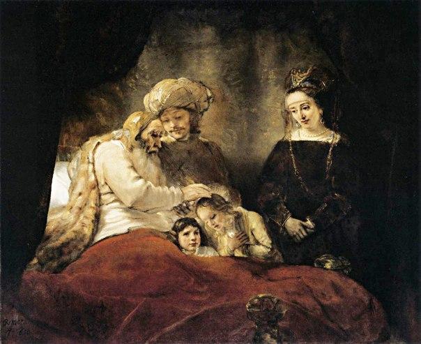 ללא קנאה. יעקב מברך את מנשה ואפרים, רמברנדט, 1656