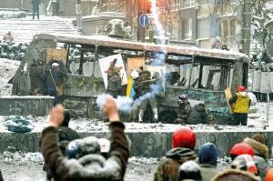 יחסי אהבה-שנאה ארוכים עם רוסיה. מהומות באוקראינה צילום: EPA