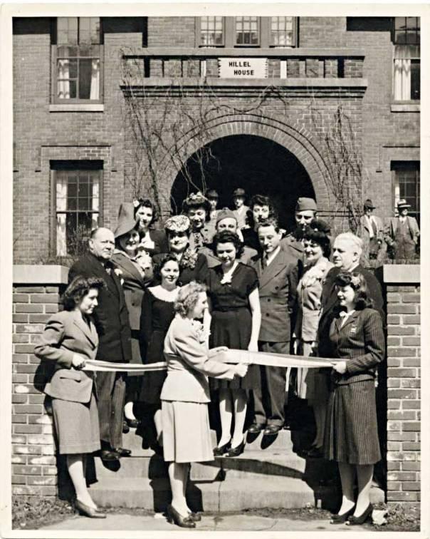 התמיכה בישראל ניצבת במוקד פעילות הארגון. חנוכת בית הילל באוניברסיטת מינסוטה, 1944