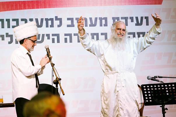 """הרב מנחם פרומן ואהוד בנאי, כנס """"מעורבים"""" באילת, 2013  צילום: אריק סולטן"""