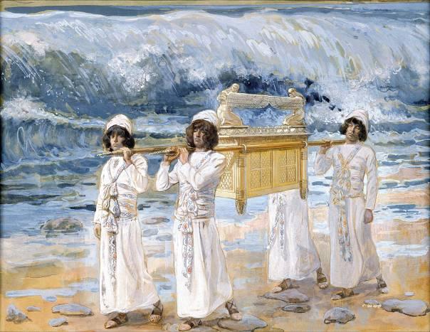 העדות שוכנת במה שאין לראותו בעיני בשר. ארון הברית עובר את הירדן, ג'יימס טיסו, 1900