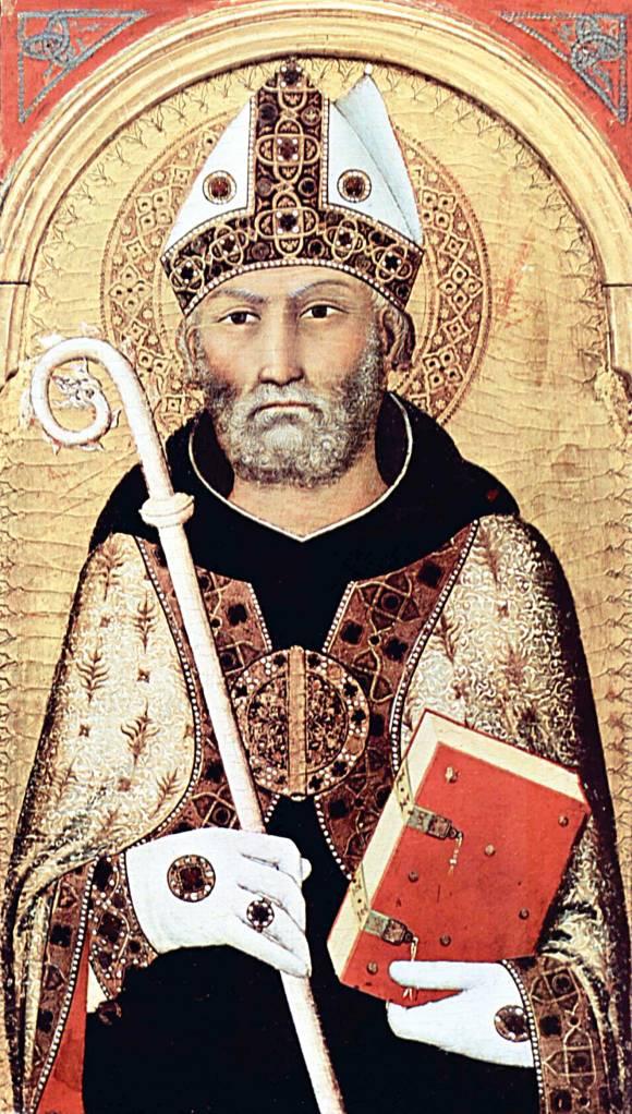 לפיו, מעמד היהודים מעיד על בחירת האל בנצרות. אוגוסטינוס, סימונה מרטיני, 1320