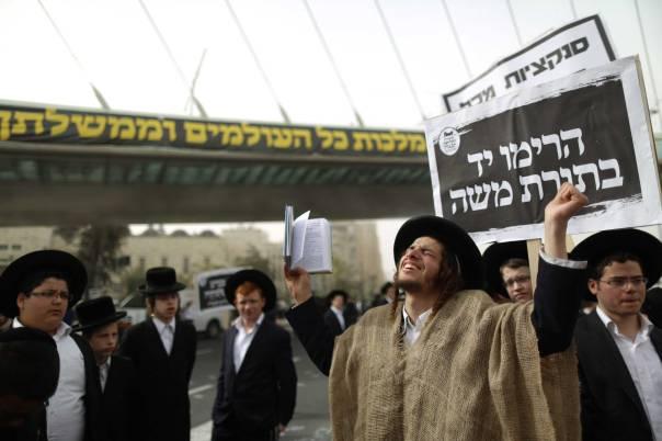 כפיות טובה כלפי התחשבות וסובלנות בלתי נתפסות של הציבור הכללי. הפגנת החרדים בירושלים  צילום: פלאש 90