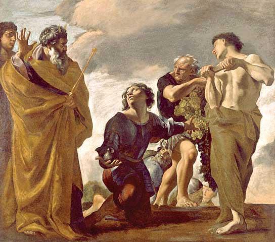 אל תהיו תיירים. משה והמרגלים, ג'ובאני לנפרנסו, 1621