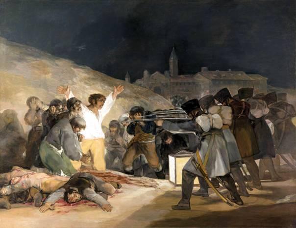 """יש לראות בתמהיל המורכב מפחד, גאווה, כעס ונקמנות גם אינסטינקט נחוץ, שהאדם ניחן בו מילדות. פרנסיסקו גויה, """"שלושה במאי 1808"""", 1814"""