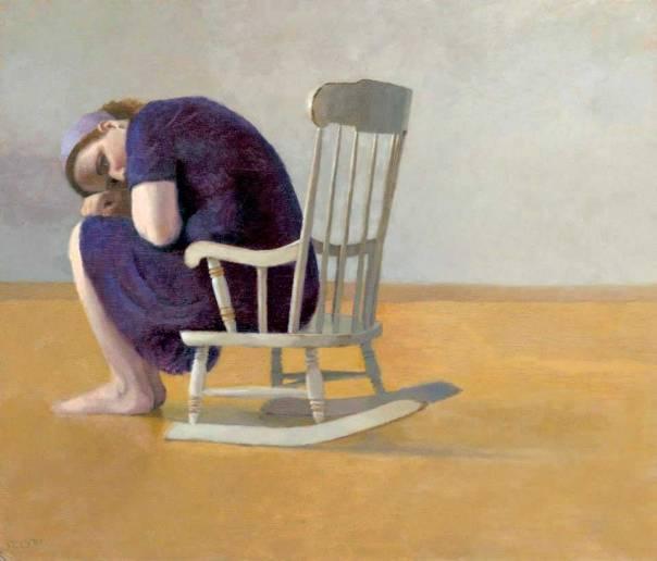 הנחיות סדרי הצניעות נוגעות לגברים ולנשים כאחד. חני כהן זדה, דיוקן עצמי בנדנדה, 2013