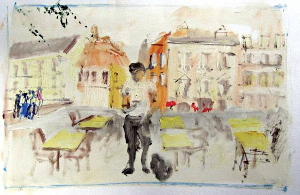 """אינם זוכרים, ואולי אינם רוצים לזכור. שרית גורה, טרנוב־פולין, 2014  מתוך התערוכה """"זיכרון השואה לנצח נצחים"""" המוצגת באשכול פיס למדעים ואמנויות תיכון עירוני א', תל אביב"""