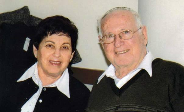 משה מושקוביץ עם אשתו יעל, 2010