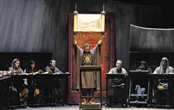 """""""למוסיקה יש כוח"""". האופרה """"בטוליה המשוחררת"""" של מוצרט בפסטיבל זלצבורג צילום: AP"""