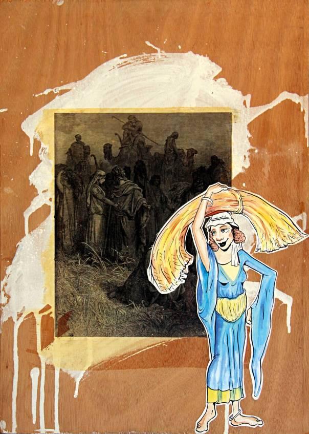"""יובל כספי, """"רות"""", טכניקה מעורבת, 2007 מתוך התערוכה """"שובו של הדיקט"""""""